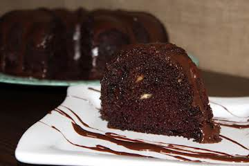 Chocolate and White Chips Bundt Cake