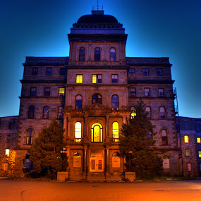 Greystone Psychiatric Hospital (Closed) by Scott Roth - Buildings & Architecture Public & Historical ( building, parsippany, psycho ward, jersey, psychiatric, kirkbride, new, ward, greystone, morristown, nj, newjersey, hospital )