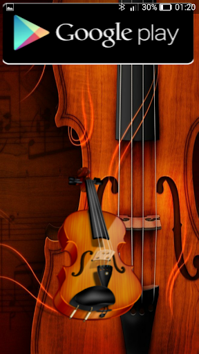 playing the violin notation