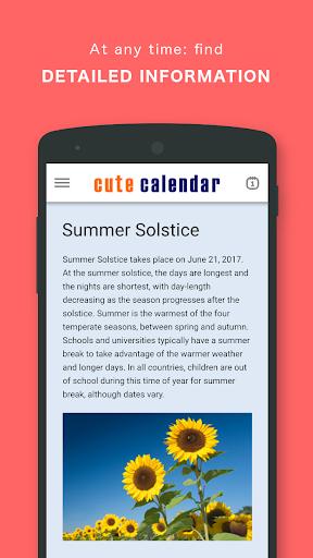 Cute Calendar PRO screenshot