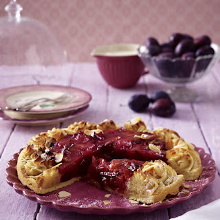 Plum and Marzipan Tart