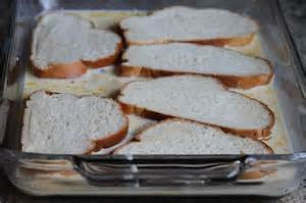 Dip the slice of bread into the batter & fry. Until Golden brown on...