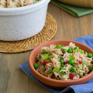 Spanish Rice with Pimientos and Peas