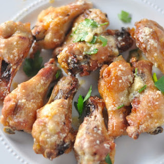 Low Carb Cheesy Garlic Wings.