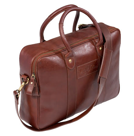 Alan Paine Computer Bag Leather Brown