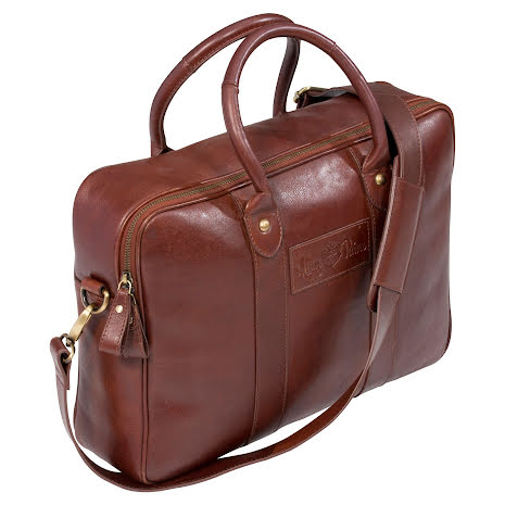 Alan Paine Computer Bag Leather Brown