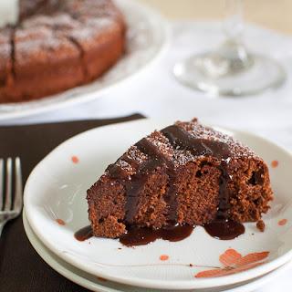 Dark Chocolate-Almond Cake