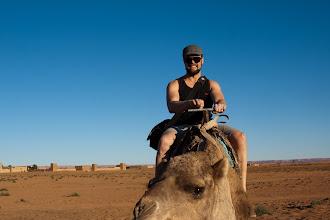 Photo: Dan on a camel