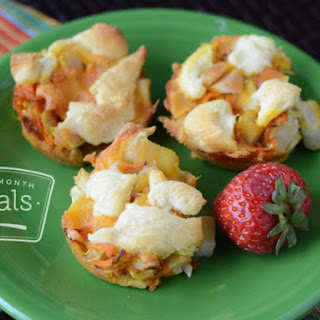 Makeover Cheesy Chicken and Biscuit Lunch Muffins
