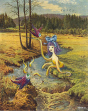 """Photo: """"The Nature Hike/Slither""""3 3/4"""" X 4 1/2"""""""