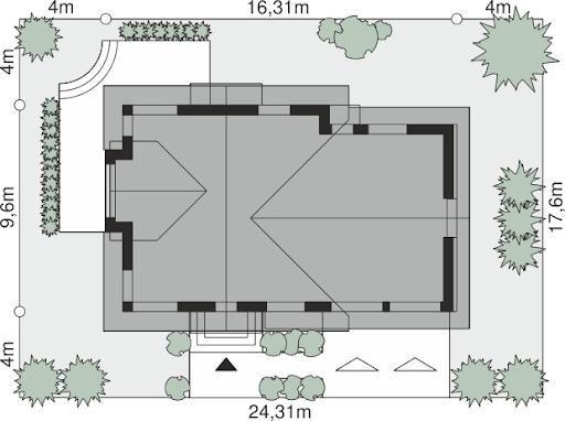 Dom przy Cyprysowej 15 K5 - Sytuacja
