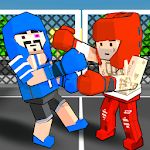 Cubic Street Boxing 3D Icon