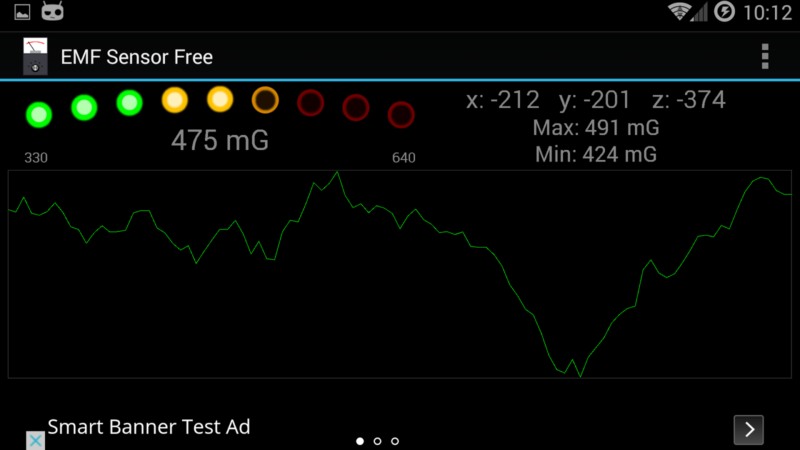 EMF Sensor Free- screenshot