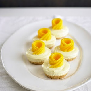 Chilled Lime And Mango Cheesecakes