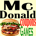 McDonald Coupons & Happy Meal 100's of Games icon