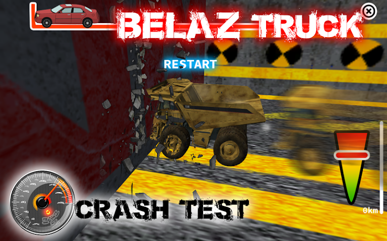 android BELAZ Truck Crash Test Screenshot 2