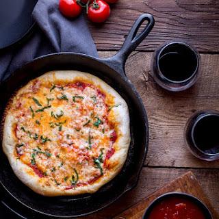 Grilled Margarita Pizza.