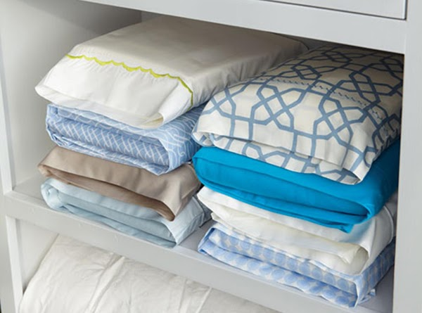 Overhaul your linen cupboard, store bed linen sets inside one of their own pillowcases &...