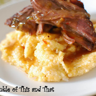 Pot Roast and Cheesy Ranch Grits