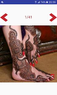 Latest henna / mehndi leg designs 2017 - náhled