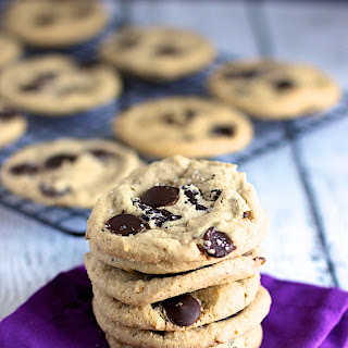 Peanut Butter Dark Chocolate Chunk Cookies with Sea Salt