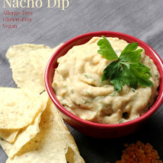 Red Lentil Nacho Dip (Gluten-Free, Vegan).