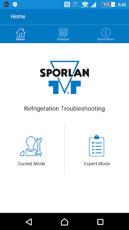 Sporlan Refrigeration App Screenshot