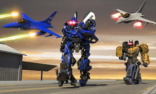 Police Robot Aircraft War - náhled