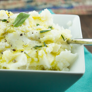 Paleo Garlic Mashed Cauliflower.