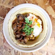 Mushroom Hummus Bowl