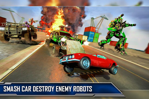 Ramp Car Robot Transforming Game: Robot Car Games screenshots 5