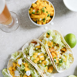 Beer Battered Fish Tacos with Mango Margarita Salsa