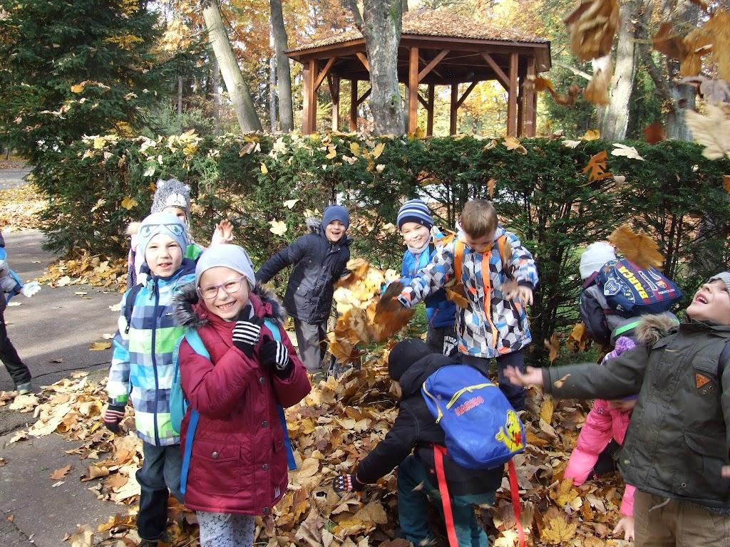 Przedszkolaki w parku i Klub Wędrującej Książeczki