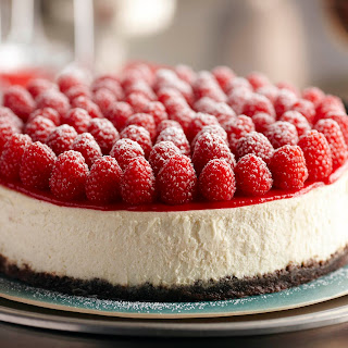 Raspberry Cheesecake with Grand Marnier.