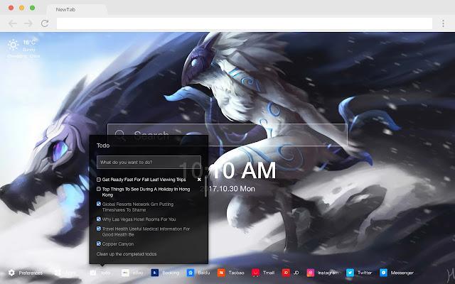 League of Legends Skin HD Pop New Tab Theme