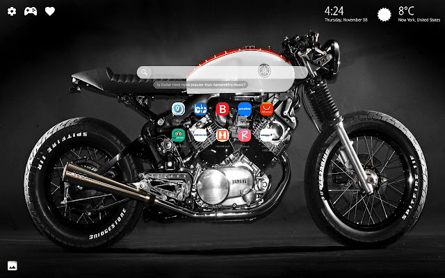 Cafe Racer Motorcycle Wallpaper HD New Tab