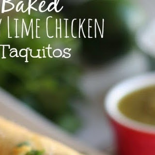 Baked Honey Lime Chicken Taquitos.