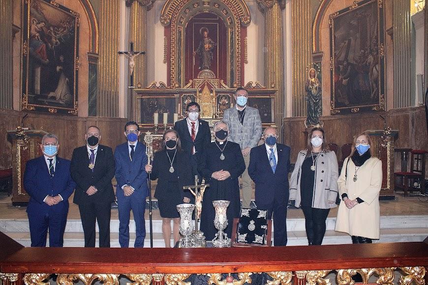 Junta de Gobierno de la Hermandad del Santo Sepulcro tras su toma de posesión.