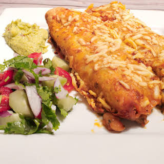 Spicy Chicken and Bean Enchiladas.