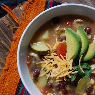 Summer Vegetable Chicken Tortilla Soup.