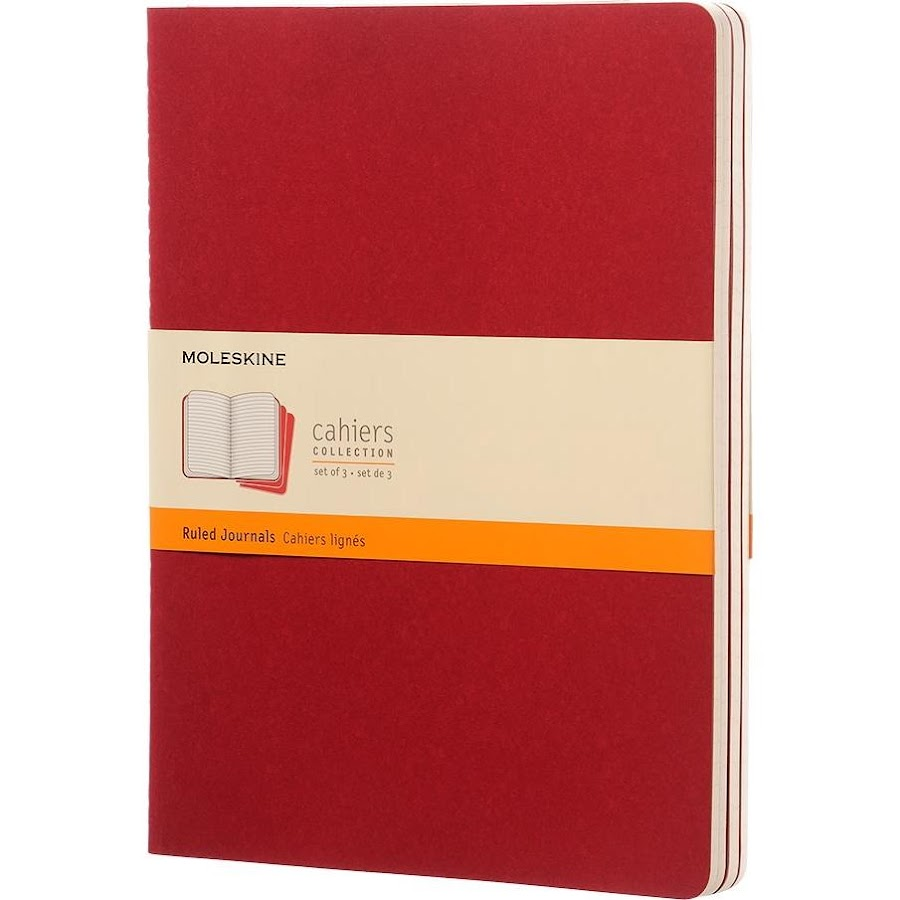 3 x Cahier Journal XL Red