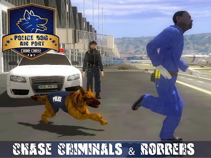 5 Police Dog Airport Crime Chase App screenshot