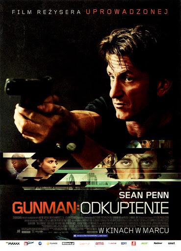Przód ulotki filmu 'Gunman: Odkupienie'