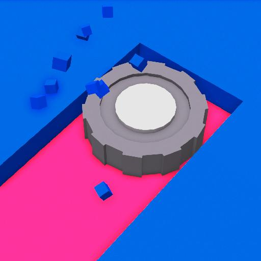Color Saw 3D Icon