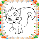 Cute Cat Coloring Book