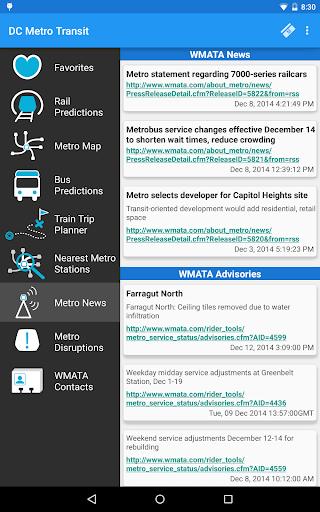 DC Metro Transit Info - Free screenshot 23
