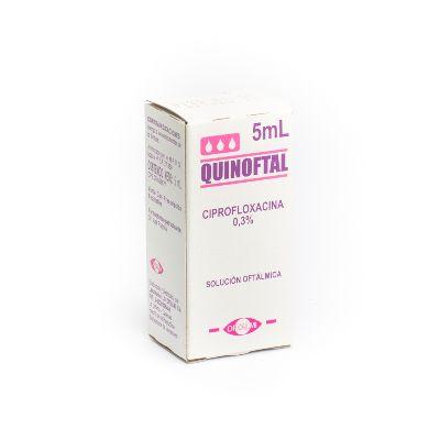 Ciprofloxacina Quinoftal 0,3% Gotas x 5ml Oftalmi 0,3% Gotas x 5ml
