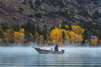"""Photo: """"The angler forgets most of the fish he catches, but he does not forget the streams and lakes in which they are caught."""" ~Charles K. Fox  Autumn 2013 Early morning at Silver Lake, California       Details: Canon 7D ISO 800, Canon 70-200L f/2.8 @ f/5.7 tripod   #10000photographersaroundtheworld +10000 PHOTOGRAPHERS+Robert SKREINER+Gemma Costa  #landscapephotography +Landscape Photography  #californiadreamin +California Dreamin'+andi rivarola  +Artist , photographer , amateur or professional +Stunning Moment #stunningmoment   #Autumn  #Autumn2013  #california  #fishing  #fishingboats  #aspen  #fallcolors"""