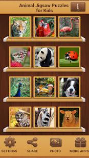 Zvířata Puzzle pro děti - náhled