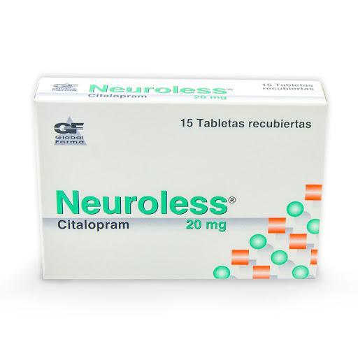 Citalopram Neuroless 20Mg X 15 Tabletas Global Farma 20mg x 15 Tabletas